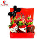 Luxury cardboard packaging chocolate covered strawberries boxes for strawberries in chocolate