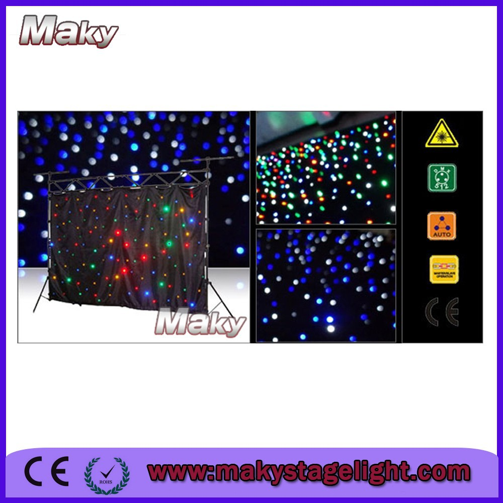 ew product 4x6m mix Color RGBW led star pattern curtains