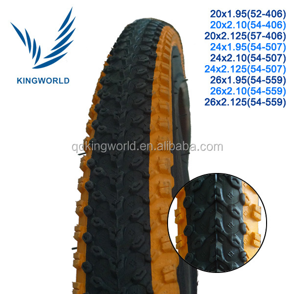 Colorized racing type bicycle tyres mountain type bike tire