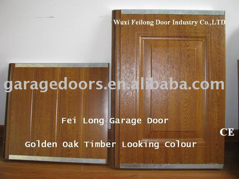 Timber/Wood Looking Automatic Steel Garage Door --- CE & ISO Certificate