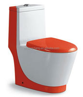 washdown ceramic bathroom sets toilet red toilet bowl color glazed one piece toilet seat