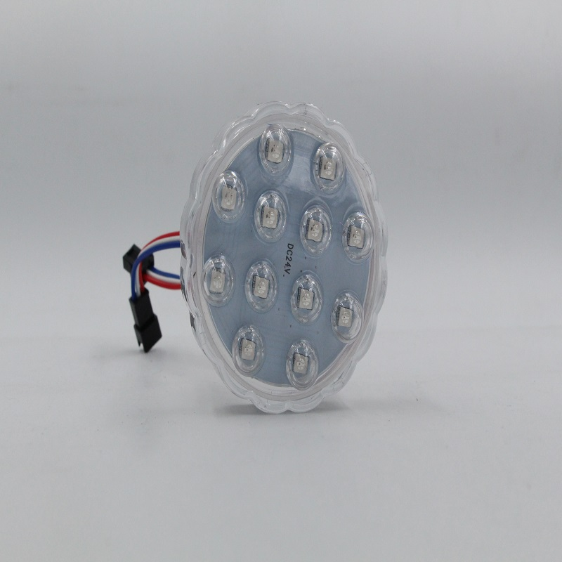 DC24V IP65 Color Changeable 6LEDs 40MM High Quality LED Pixel Point Light Sources