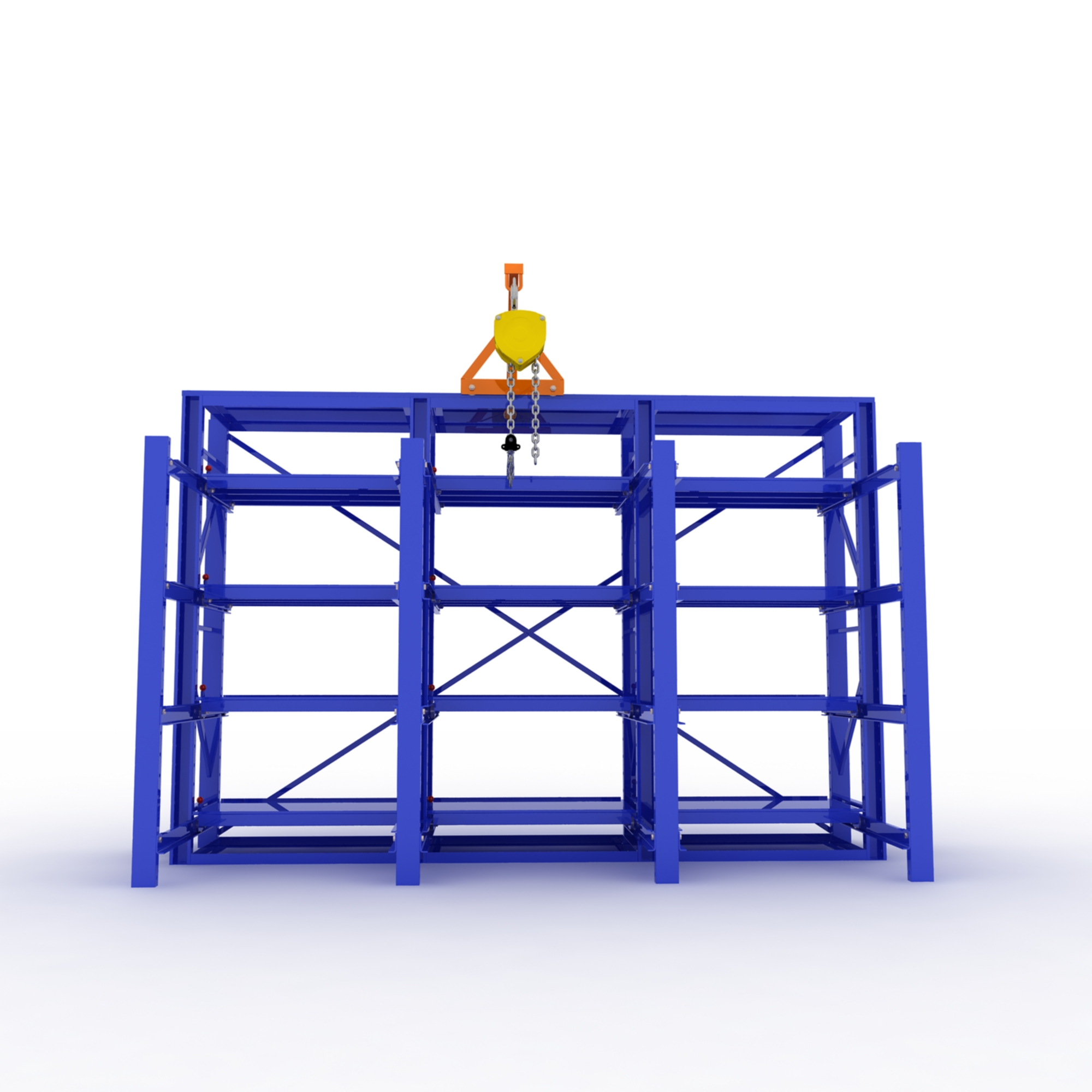 Warehouse stackable iron pallet rack shelving