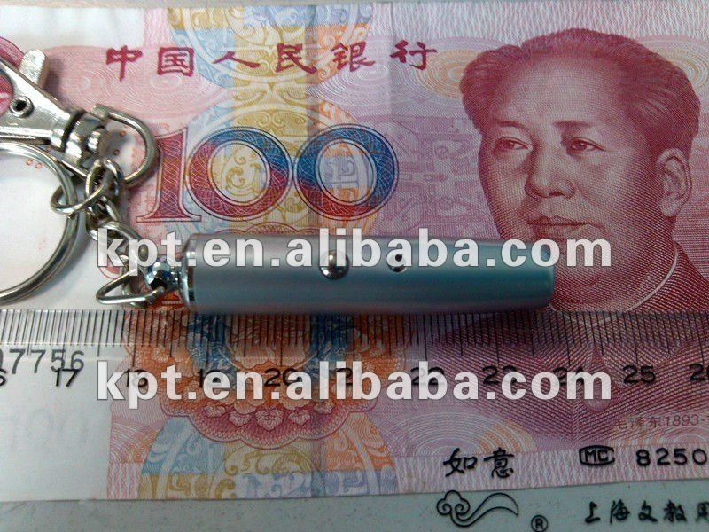 IR infrared mini fake money detector with keychain
