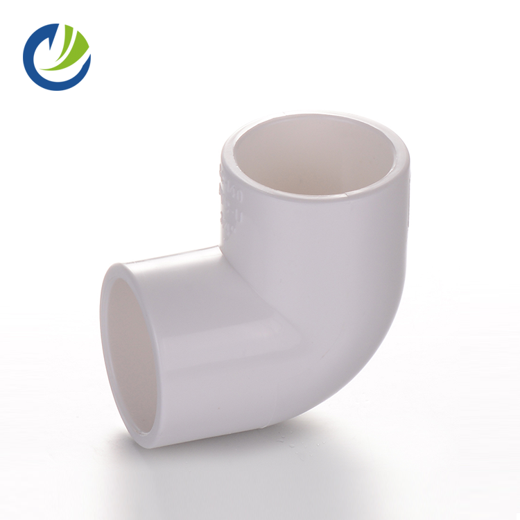 ASTM SCH40 Chinese supplier 90 deg elbow 2.5 inch plastic PVC fitting water pipe