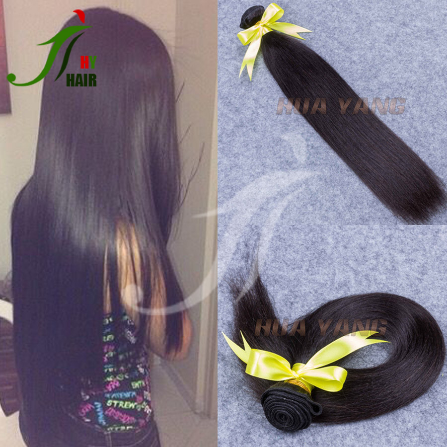 2016 Hot Sale unprocessed raw hair weft/weave/extension Brazilian Virgin Silky Straight Hair