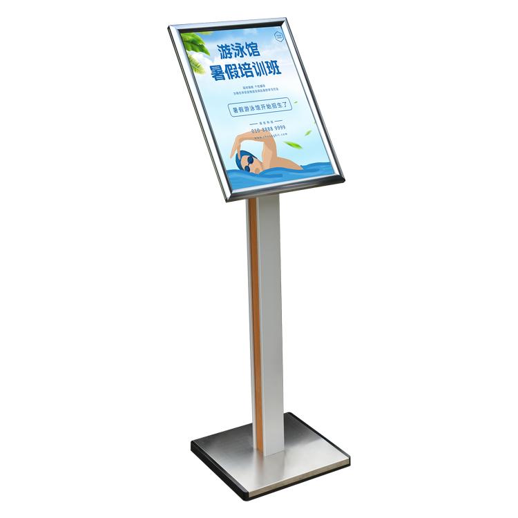 A3 Adjustable Pedestal Sign Holder Floor Stands Rack Black Acrylic Frames Advertising Banner Photo Menu Literature Display Frame Clear And Distinctive Desk Accessories & Organizer