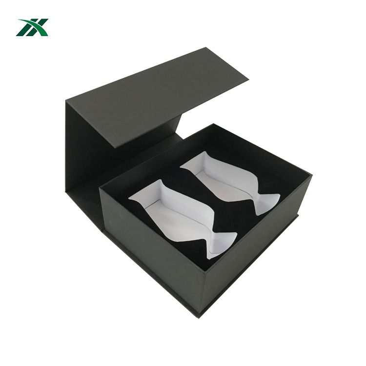 Hot selling wineglass gift paper box with magnet