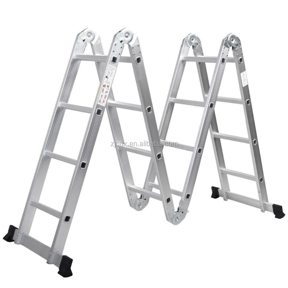 Aluminium folding Ladder & Multi purpose ladder with GS Approval/4X4 folding aluminium ladder
