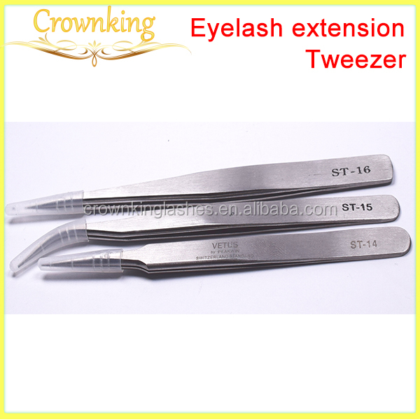 High quality tweezer for eyebrow extension , curved and straight tweezer