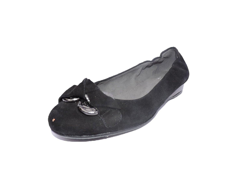 bfaff83b608 Get Quotations · Stuart Weitzman Womens Doodles Designer Ballet Flats Black  Suede Size 5.5 M