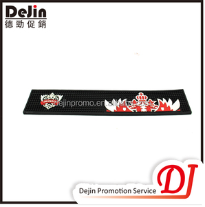 Personalized bar accessories rubber back bar runners