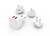 4 in 1 US EU UK AU Plug USB Travel Charger, 2 Port USB Charger, Fast Charging Supported