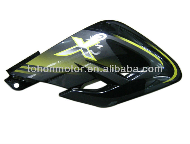Tank Side Cover for X3 200 Motorcycle, Black