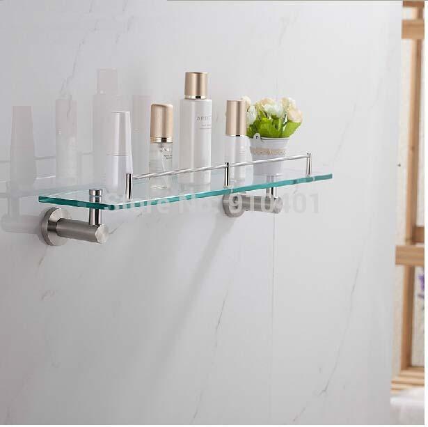 Excellent Barclay Jordyn Brushed Nickel Glass Bathroom Shelf At Lowescom