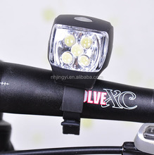 waterproof bike AAA battery 5 leds bicycle front lights
