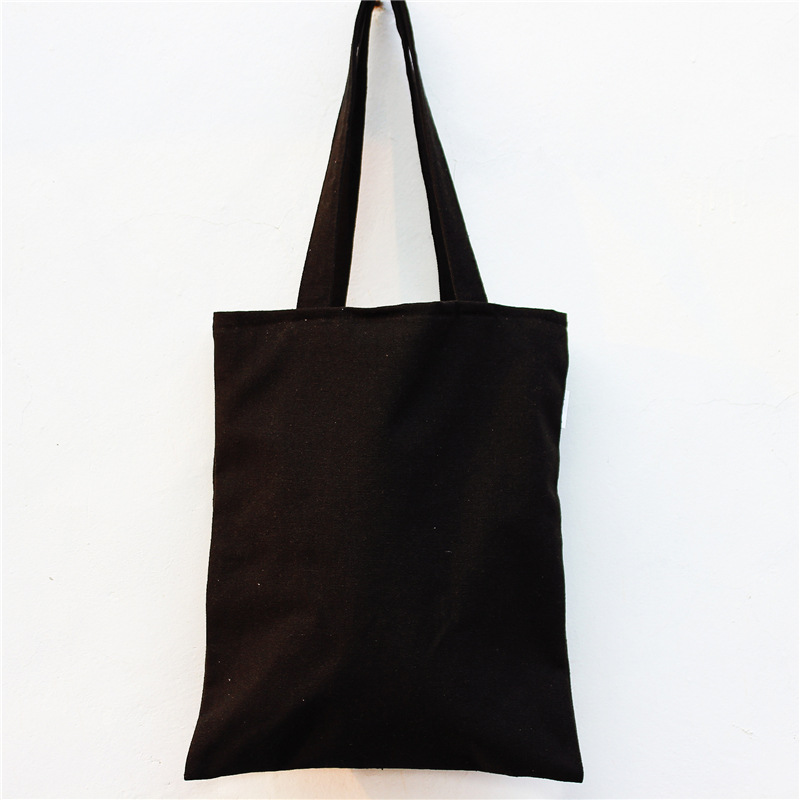 e166da8b9717 Wholesale Friendly Plain Cotton Black Canvas Tote Bag - Buy Black Canvas  Tote Bag