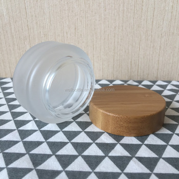 30g 50g 100g Glass Jar With Bamboo Cosmetic Lid For Metal Deodorant  Container Gj056r - Buy Glass Jar,Bamboo Cosmetic Lid,Metal Deodorant  Container