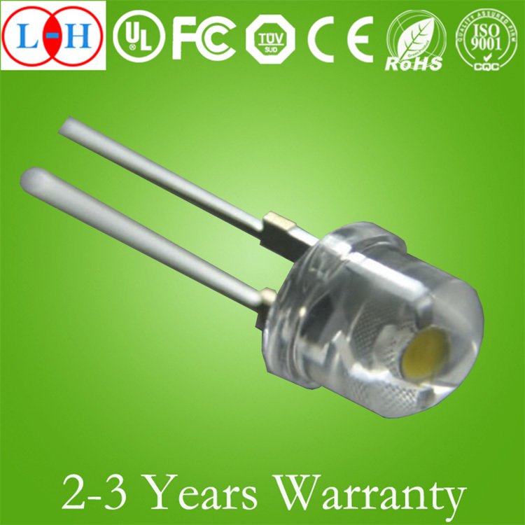 8mm through hole package led diode