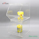 Food Grade Stackable Clear Acrylic Candy Box with Cover Lid and Scoop Acrylic Candy Display Rack