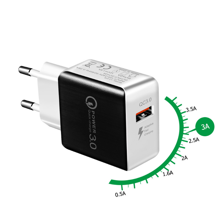 Wholesale Smart Mobile Phone Power Charger Quick 3.0 Wall Type Us Plug Single Usb Charger Adapters