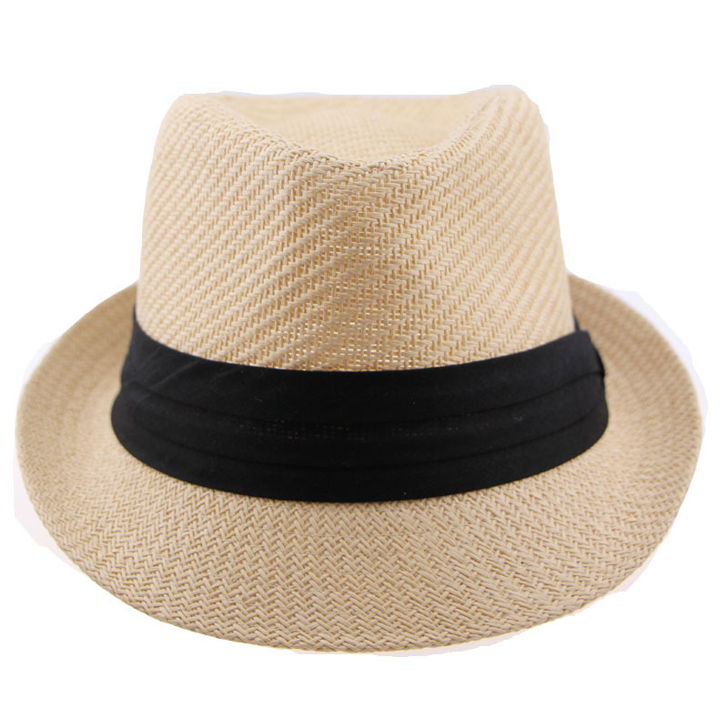Buy 2015 Fashion Men Fedoras with Black Ribbon for Decoration Unisex Women  White Camel Summer Autumn Sun Straw Chapeu Panama Hat in Cheap Price on ... 51617da553e