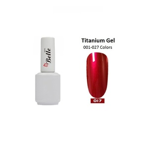 Belle 26 Colors Titanium Polish Mirror Metallic Gel Nail Polish