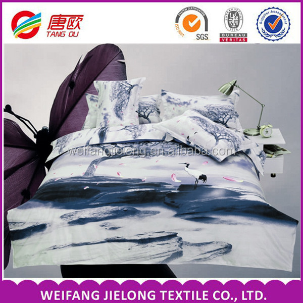 disperse printing for polyester 2016 latest home textile fabric 100% polyester for duvet bed