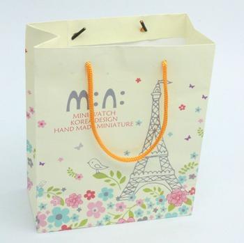 oem production customized paper bag design template little paper