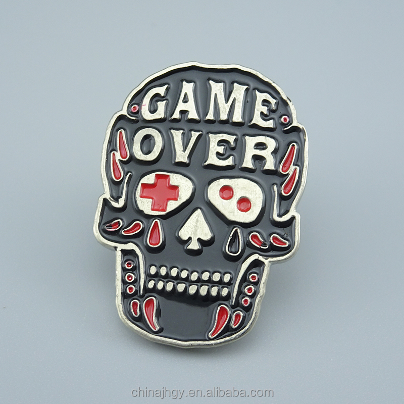 Easy and simple to handle custom skull lapel pin