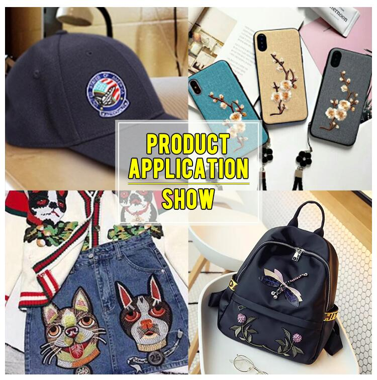 Wholesale Heat Cut Custom Fish&Octopus& Cat Theme Embroidery Logo Custom Clothes Embroidered Patches