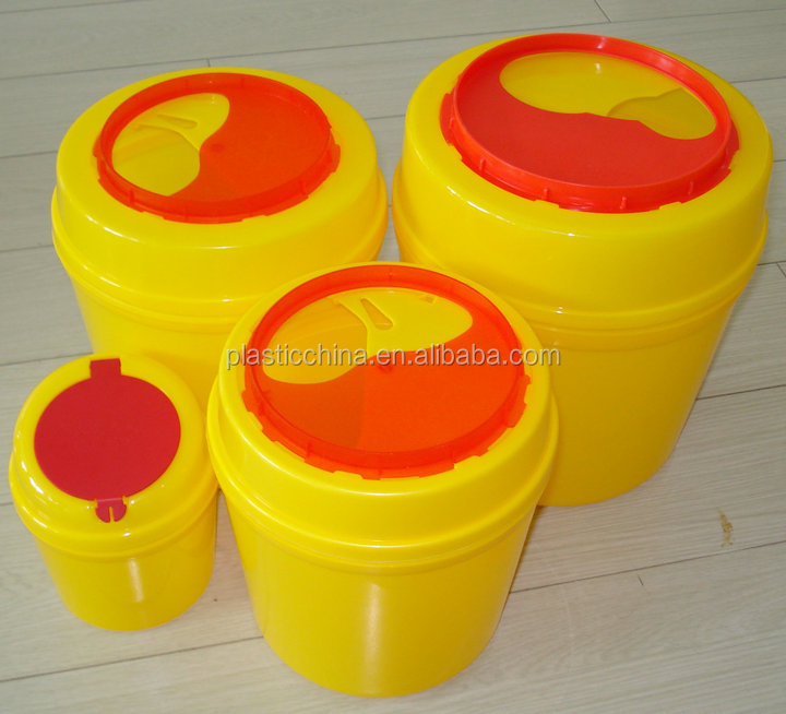 10l round sharps disposal container medical