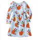 2017 orange and white turkey print baby girls cotton dress