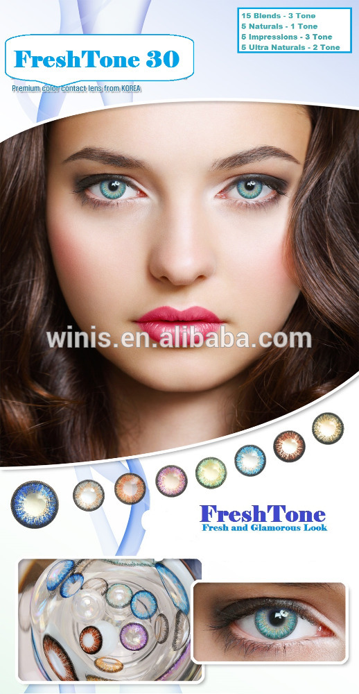 Gmp Fresh Tone Color Contact Lenses 14.5mm 3 Tone Eye Contact ...