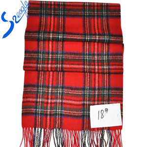 Plaid Wool Scarf Shawl