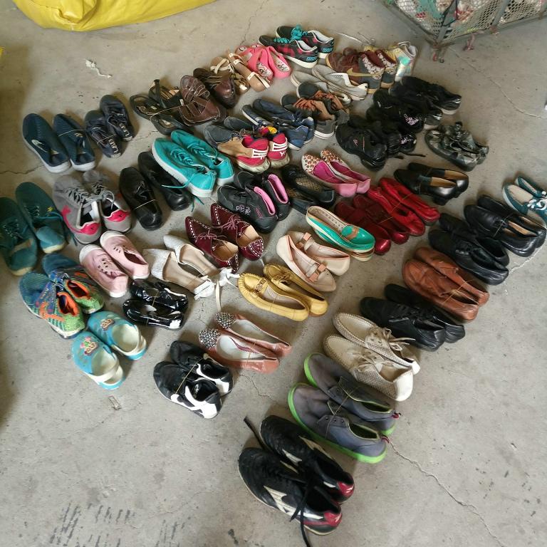 Hot Sale Men Ladies Children Original Cheap Mixed Used Shoes