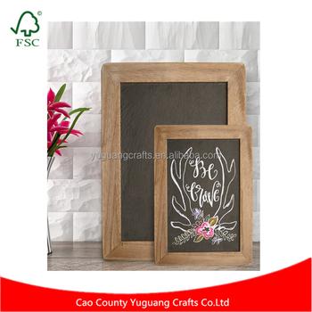 Custom Made Antique Framed Natural Wood Slate Kitchen Chalkboard ...