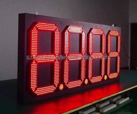 digital price display for supermarket/Shenzhen Babbitt BT6A-8888R/Y/G/W Led digital gas price board