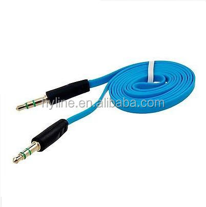 1M Audio Flat Extension Cable from 3.5 mm Male Port to 3.5 mm Male Port