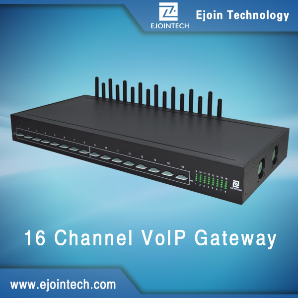 16 channel modem sim bank voip telephone mobile cards sms gateway