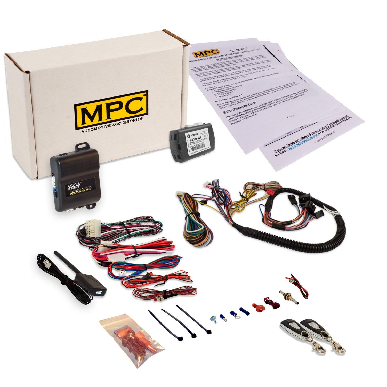 with T-Harness MPC Complete Remote Activated Remote Start Kit for 2012-2013 Toyota Corolla Firmware Preloaded