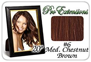 """Pro Extensions 20"""" #6 Medium Chestnut Brown Premier Remy Human Hair Extensions by ProExtensions"""