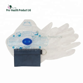 2 In 1 Disposable CPR Breathing Mask And Pair Disposable Vinyl Gloves With Nylon Bag