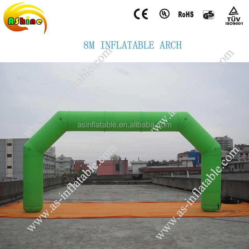 8M GREEN INFLATABLE ARCH SQUARE