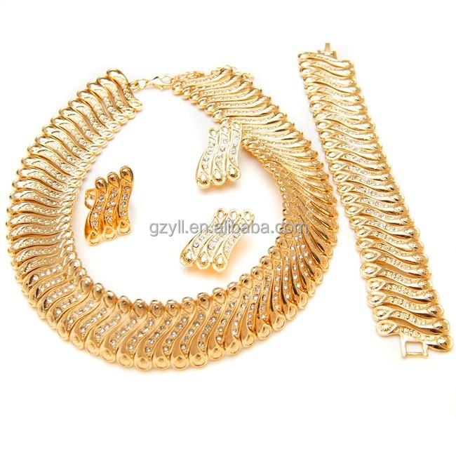 2015 nouveautés ensemble de bijoux pas cher prix dubai ensembles de bijoux en or 18 carats