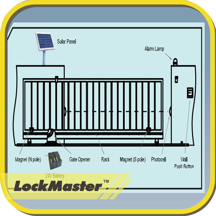 electric sliding gate opener kit with gsm and track buy
