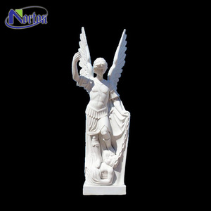Customized Life Size White Marble Angel Statue For Sale NTMS-368Y