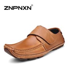 Genuine Leather Men's flats  Driving Moccasins Slip On men's shoe Men footwear casual shoe men's flats