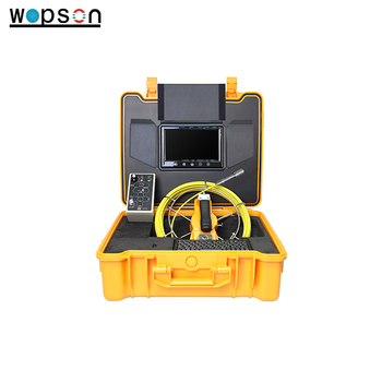 Waterproof CCTV pipe Inspection Camera with Push Rod Video Cable