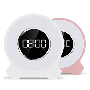 Multi-function alarm clock mini portable with wireless Bluetooth speaker touch light FM
